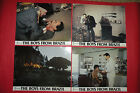 BOYS FROM BRAZIL 1978 GREGORY PECK LAURENCE OLIVIER 6 x UNIQUE UK LOBBY CARDS