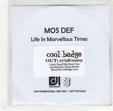(GD403) Mos Def, Life In Marvellous Times - 2009 DJ CD