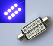 2x Car Blue 42mm No Error CANBUS 8 SMD 5050 LED Festoon Dome Light Lamp Bulb