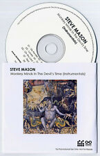 STEVE MASON Monkey Minds In The Devil's Time Instrumentals promo publishing CD