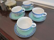 MIKASA SUSANNE LOT OF 4 CUPS AND SAUCERS