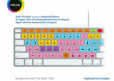 Avid Pro Tools Keyboard Stickers (Pro Edition) | Mac | QWERTY UK, US