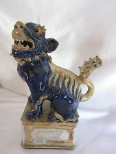 Vintage Chinese Pottery Foo Dog Figure