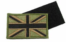 Union Jack Patch Army Olive Military Flag Badge UK Forces Velcro-Backing R1826