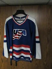 VTG TEAM USA HOCKEY CCM Jersey Men's size small sewn Olympics Maska rare