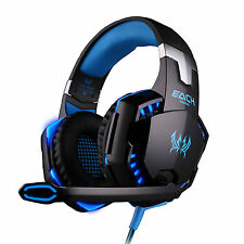 G2000 USB 3.5mm Stereo Surround PC Gaming Headset Headphones Microphone w/ Light