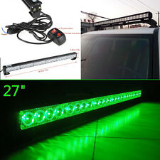 "27"" Green 24 Cree LED Traffic Advisor Vehicle Strobe Light Bar Emergency Warning"
