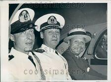 1939 Argentine Military Officials A Viccari A de Brunet F Espil Press Photo