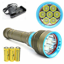 7 x CREE XM-L L2 LED 10000Lm Diving Flashlight Scuba Torch Lamp Light + battery
