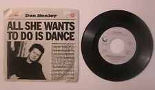 Don Henley All She Wants To Do Is Dance b/w Building The Perfect Beast Eagles 45