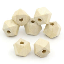 """BD 80PCs Wooden Spacer Beads Polygon Natural 13mmx10mm(4/8""""x3/8"""")"""