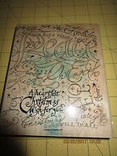 Stampin Up HOLIDAY PRINT Background Stamp Retired 2003 Christmas Holiday Noel