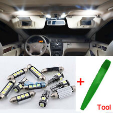 11Pcs Error Free Full LED Interior Kit SMD Bulb White For Toyota Avensis T25 ML