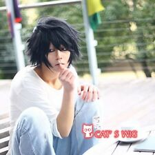DEATH NOTE L Lawliet Short Layered cosplay wig