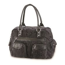 Dakine FAYE Black Flocked Overnight Bag Travel Purse (D) Women's Tote