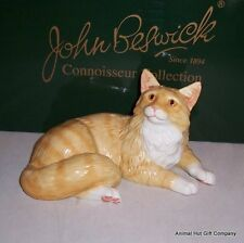 John Beswick Connoisseur Collection Maine Coon Red Tabby Cat