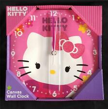 Hello Kitty Canvas Wall Clock,  NIB
