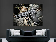 BERETTA GUN POSTER ARMY CAMO LARGE WALL ART PRINT PICTURE