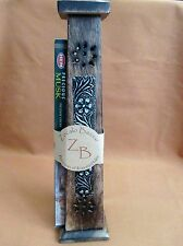 "12"" Floral Metal Panel Tower Incense Cone & Stick Burner"