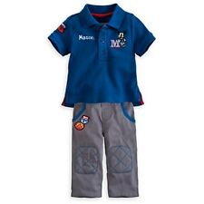 DISNEY STORE MICKEY MOUSE POLO SHIRT & PANTS SET BABY 2 YRS MICKEY RACING NWT