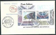 2000 ITALIA FDC CAVALLINO FOGLIETTO AVVENTO LE GENERAZIONI LO SPAZIO - ED
