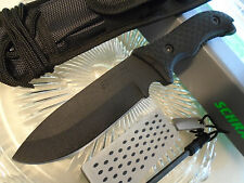 Schrade Frontier Extreme Survival Bowie Knife 1095HC Sharpener Fire Rod SCHF36