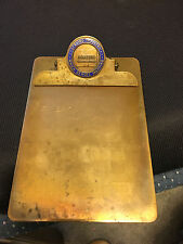 Vintage Brass Monsanto Chemical Co St Louis Clip Board