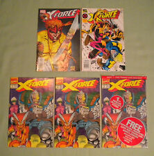 X-FORCE#1 VARIANTS LOT Newsstand+Inverse+Sealed Marvel 1990 Deadpool New Mutants