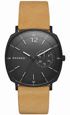 Men's Skagen Rungsted Brown Leather Watch SKW6257
