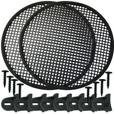 """Speaker Grill 15"""" Round shape 2 pieces includes plastic clamps w hardware"""