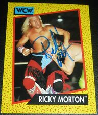 Ricky Morton Signed 1991 WCW Impel Card #100 WWE Autograph Rock n Roll Express