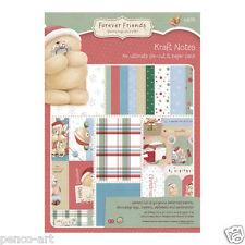 Papermania Forever Friends Kraft notes Ultimate 48 scrapbook papers A4 160gsm