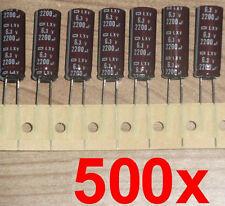 500x lowesr LXV nippon Elko 2200µf 6,3v 105 ° C placa madre condensador 1500 1800 µf