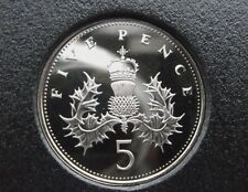 1982 5P Larger Coin.  Not released. Low Mintage of Brill unc. Thistle design
