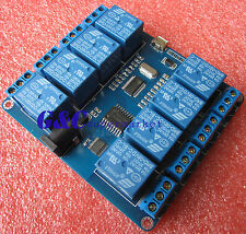 MICRO USB 8-channel RELAY MODULE 5V 10A Driver-free PC USB Control M102