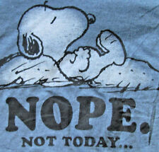 """SNOOPY/PEANUTS Heather Blue TShirt  """"Nope Not Today"""""""