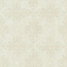 Embossed Textured Cream & Taupe Faux Ceiling Tile Heavy Duty Wallpaper PA131203