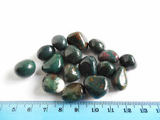 16pc TUMBLED BLOODSTONE from INDIA 50.46g AAA 15-20mm;Metaphysical;Healing; #23