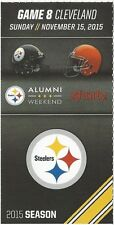 Steelers /Cleveland Ticket Stub 11/15/15 Heinz Field…Alumni Weekend