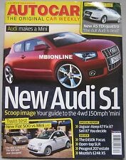 Autocar 25/7/2007 featuring Mercedes SLR, Mini, Fiat 500, Audi, Ford Focus WRC