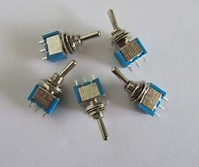 5x SPDT Guitar Mini Toggle Switch 3- Position ON-OFF-ON 3 PIN Car/Boat Switches