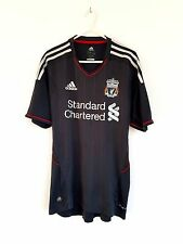 Liverpool Away Camicia 2011. SMALL Adidas Grigio Adulti S maniche corte calcio top