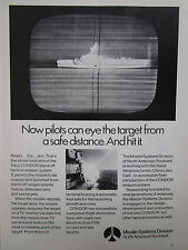 2/1972 PUB NORTH AMERICAN ROCKWELL NAVY CONDOR TACTICAL WEAPON SYSTEM AD