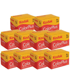 10 Rolls Kodak Color Plus 200 35mm Negative Film ColorPlus 135-36 exp. 02/2018