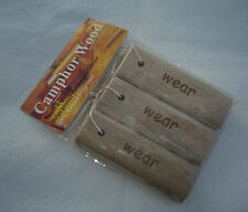 3 Camphor Wood Repellent Moth Sticks