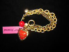 BETSEY JOHNSON RARE BE MY VALENTINE RED HEART BRACELET