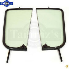 55-59 Chevy Pick Up Pickup Truck DOOR VENT Wing Window Glass w/ Black Frame PR