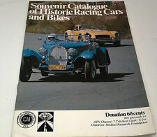 Historic RACING CARS & BIKES Souvenir Catalogue 1976 Motor Show