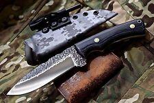 CFK USA Custom Handmade Hammered 1095 Bushcraft Hunting Knife Kydex Sheath Set 2