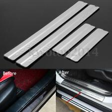 4Pcs Silver Stainless Door Sill Scuff Plate Protector For TOYOTA RAV4 2013-2016